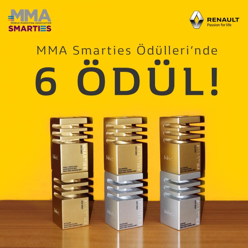 Renault'ya MMA Smarties Ödülleri'nde 6 Ödül