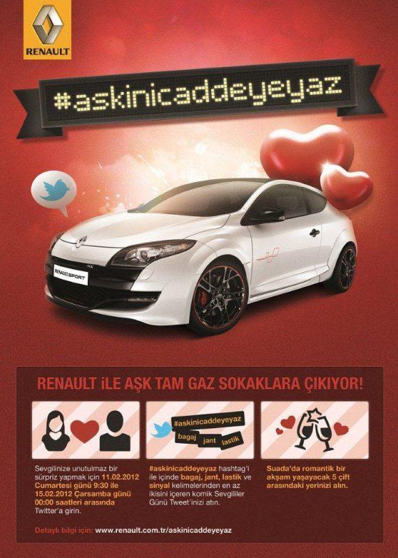 Renault'dan Sevgililer Günü'ne özel en komik aşk tweetleri kampanyası