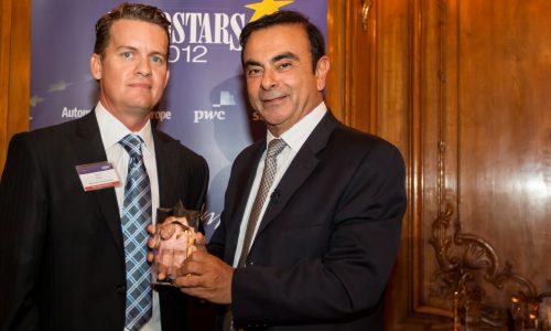 Carlos Ghosn ve Bruno AncelIn 2012 yılının eurostarları seçildiler