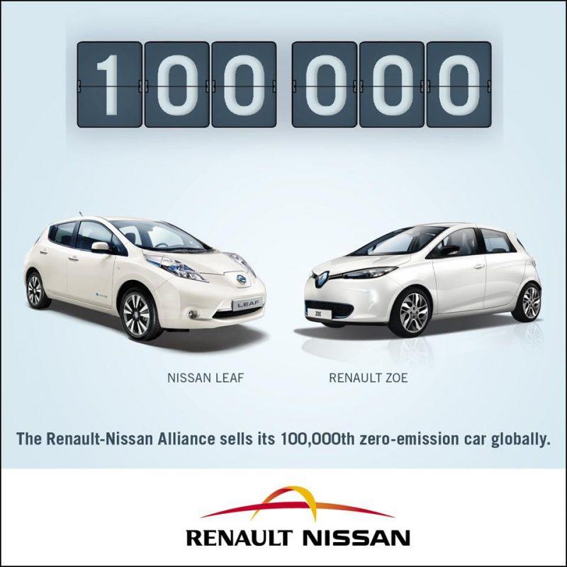 Renault – Nissan 100.000 Sıfır Salımlı Araç Satışı Gerçekleştirdi