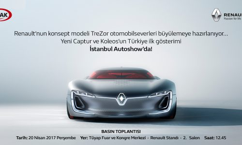 Renault'nun Konsept Modeli TreZor Otomobilseverleri Büyülemeye Hazırlanıyor